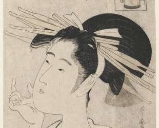 Midori of the Hinataka, from The Hour of the Rat — Китагава Утамаро