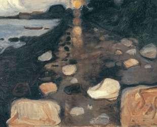 Лунный свет на берегу — Эдвард Мунк