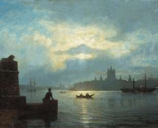 Moonlit night at Neva — Лев Лагорио