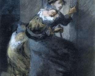 Мать с двумя детьми — Жан-Франсуа Милле