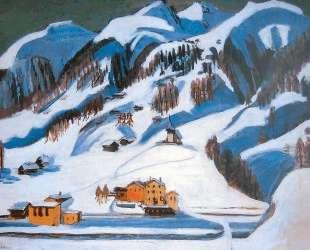 Mountains and Houses in the Snow — Эрнст Людвиг Кирхнер