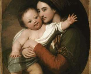 Mrs. Benjamin West and Her Son Raphael — Бенджамин Уэст