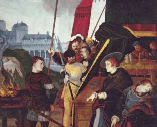Гай Муций Сцевола перед царем Порсеном — Ханс Бальдунг