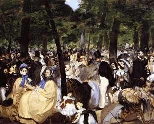 Music in the Tuileries Garden — Эдуард Мане