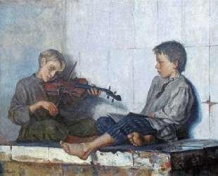 Урок музыки — Николай Богданов-Бельский