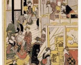New Year's Days of the Teahouse Ogi-ya — Кацусика Хокусай