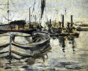 New York Harbor — Джон Генри Твахтман (Tуоктмен)