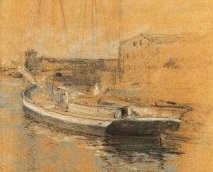 Newport Harbor — Джон Генри Твахтман (Tуоктмен)