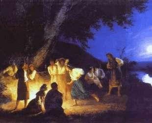 Night on the Eve of Ivan Kupala — Генрих Семирадский