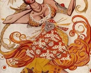 Эскиз костюма Жар-Птицы к балету «Жар-Птица» — Леон Бакст