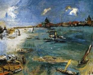Venice — Boats on the Dogana — Оскар Кокошка