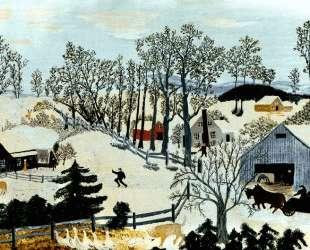 Early Springtime on the Farm — Бабушка Мозес