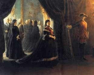 Catherine II (1729-96) at the Coffin of Empress Elizabeth (1709-61) — Николай Ге