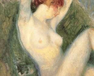 Nude in green chair — Уильям Джеймс Глакенс