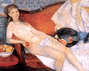 Nude with Apple — Уильям Джеймс Глакенс