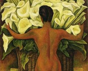 Nude with Calla Lilies — Диего Ривера