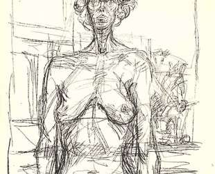 Nude with Flowers — Альберто Джакометти