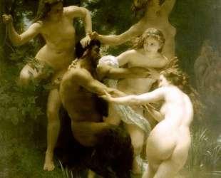 Nymphs and Satyr — Вильям Адольф Бугро