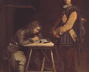 Officer Writing a Letter — Герард Терборх