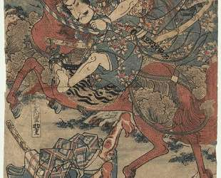 Oguri Hangan Sukeshige and Yamasaki — Утагава Садатора
