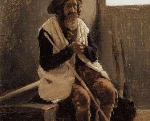Старик, сидящий на сундуке Коро — Камиль Коро