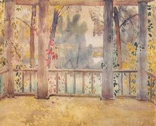 На балконе в Тарусе — Виктор Борисов-Мусатов