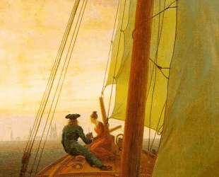 On board of a Sailing Ship — Каспар Давид Фридрих