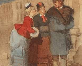 На Невском проспекте вечером — Василий Суриков