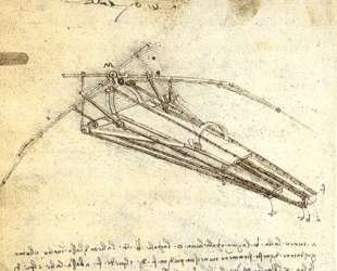 One of Leonardo da Vinci's designs for an Ornithopter — Леонардо да Винчи