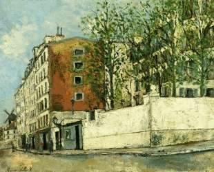 Orchampt street near Montmartre — Морис Утрилло