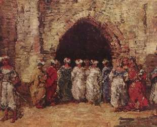 Oriental scene — Адольф Жозеф Тома Монтичелли