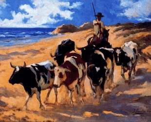 Oxen at the Beach — Хоакин Соролья