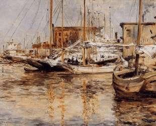 Oyster Boats, North River — Джон Генри Твахтман (Tуоктмен)