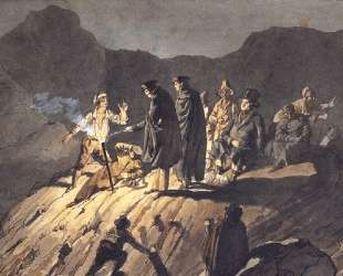 Участники экспедиции на Везувий — Карл Брюллов