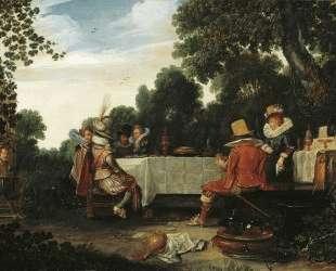 Party in the Garden — Эсайас ван де Вельде