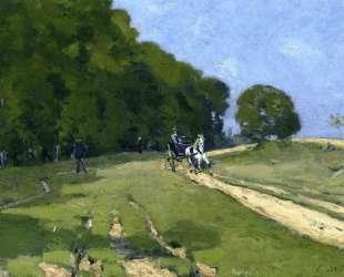 Path near the Parc de Courances — Альфред Сислей