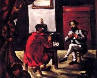 Paul Alexis Reading at Zola's House — Поль Сезанн