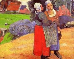 Бретонские крестьянки — Поль Гоген
