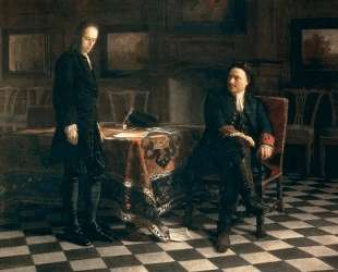 Peter the Great Interrogating the Tsarevich Alexei Petrovich at Peterhof — Николай Ге