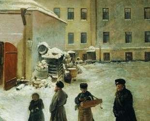 Петербургский дворик — Константин Маковский
