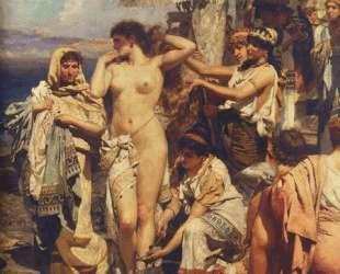 Phryne at the Poseidonia in Eleusis (detail) — Генрих Семирадский