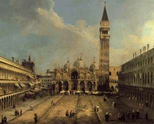 Piazza San Marco Looking East along the Central Line — Каналетто