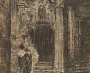 Pierrot and Woman Embracing — Уолтер Сикерт