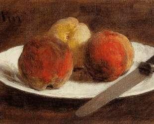 Plate of Peaches — Анри Фантен-Латур