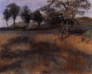 Вспаханное поле — Эдгар Дега