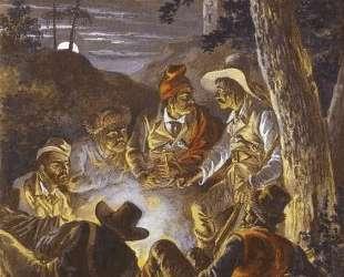 Polish Insurgents in the Forrest at Night — Александр Орловский