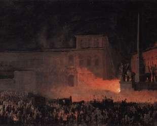 Политическая демонстрация в Риме в 1846 году — Карл Брюллов