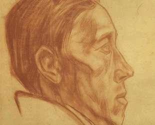 Мужской портрет в профиль — Александр Дейнека