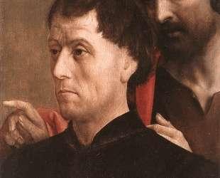 Portrait of a Man of Prayer with St. John the Baptist — Хуго ван дер Гус