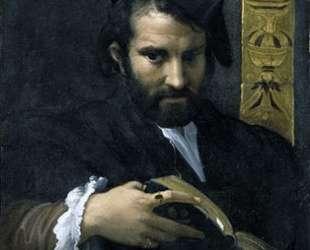 Portrait of a Man with a Book — Пармиджанино